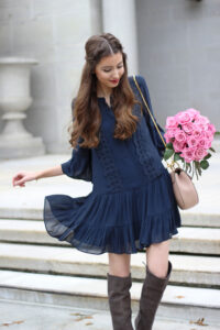 The Lacy Flounce Dress You Need For Fall