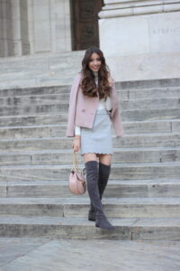 Blush Dreams… Blush Jacket + Scalloped Skirt