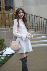 Blush + Grey {Essential Sweater for Winter}