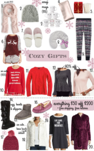 Cozy Gifts ~ Many that are on sale!!