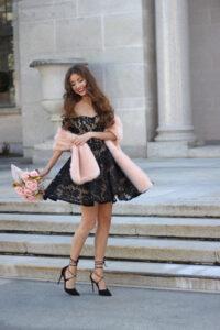 Twirling Into December ~ Little Black Dress