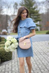 Chambray Ruffle Dress {Spring Wardrobe Essential}