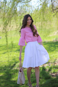 Pink + White Spring Outfit