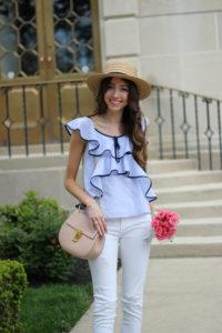 Menswear Stripes + Girly Ruffles = The Perfect Pairing