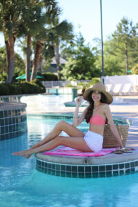 Pool Day + Scalloped Bikini Dupe