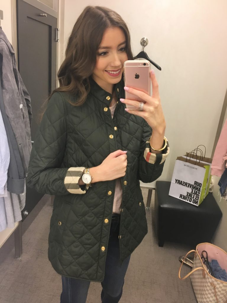 Nordstrom Anniversary Sale 2017 Try On - Lace & Lashes Blog : nordstrom burberry quilted jacket - Adamdwight.com