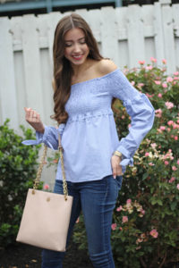 Blue Smocked Top + Friday Favorites