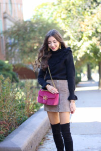 The Perfect Suede Miniskirt for Fall Under $100