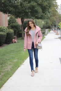 Pink X Grey Fall Outfit