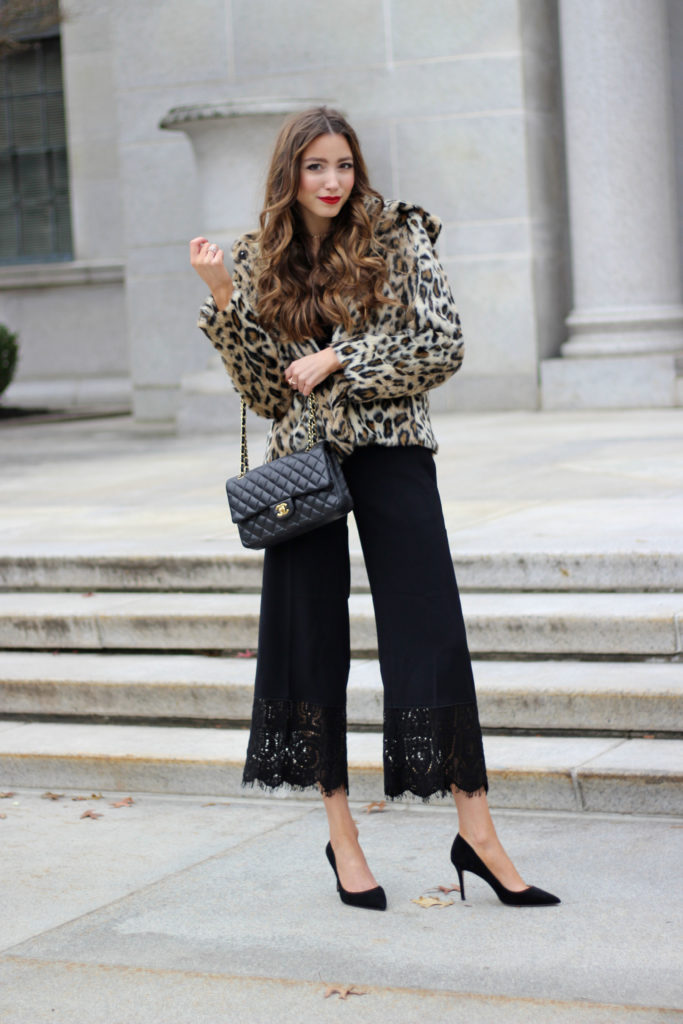 leopard-ann-taylor-jacket-how-to-style-winter-lace-pants