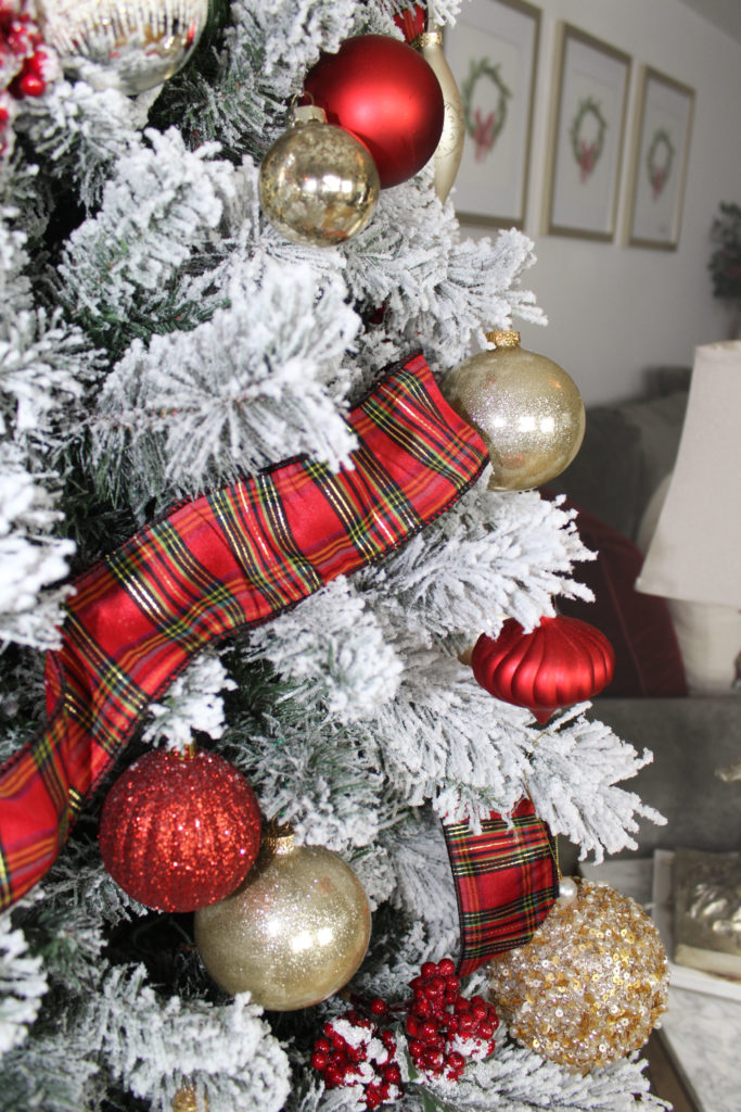 Christmas Tree Decorated In Gold