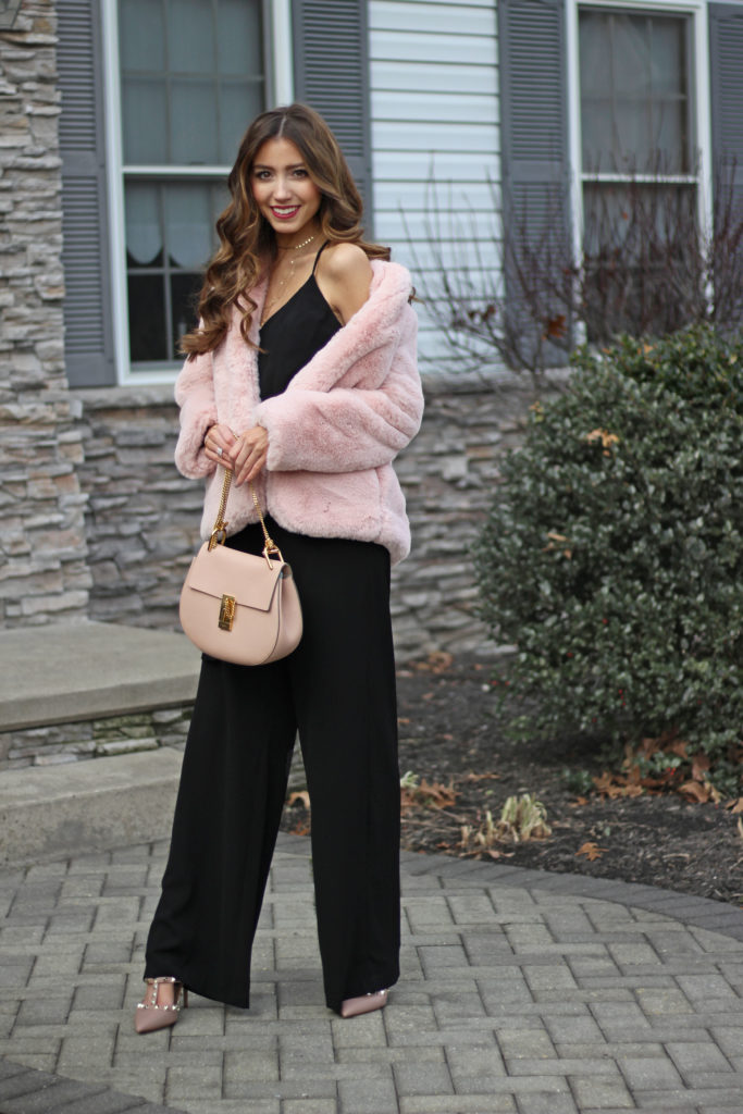 pink-jacket-faux-fur-holiday-glam-outfit